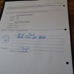 und unterschrieben!