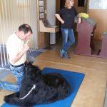 Andreas und Käthe auf der Therapiematte